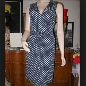 NWT DKNY Polka Dot Wrap Dress